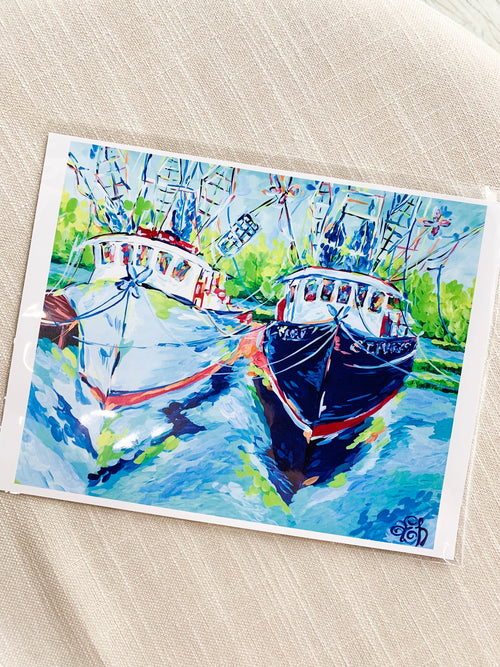 Waterside Boats 8x10 Print