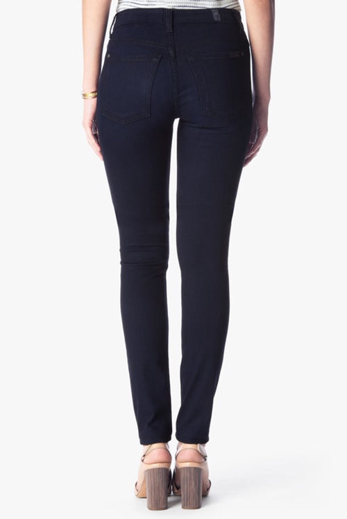 High Waisted Skinny - Blue Black River Thames