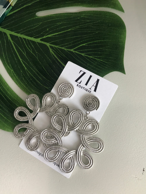 Circle Scroll Earrings