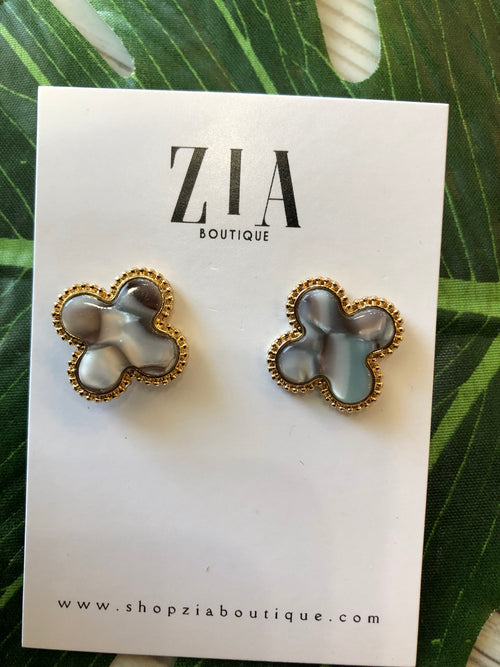 Acrylic Clover Earrings