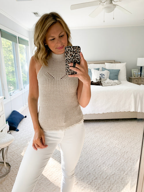 Pepe Sleeveless Sweater Top