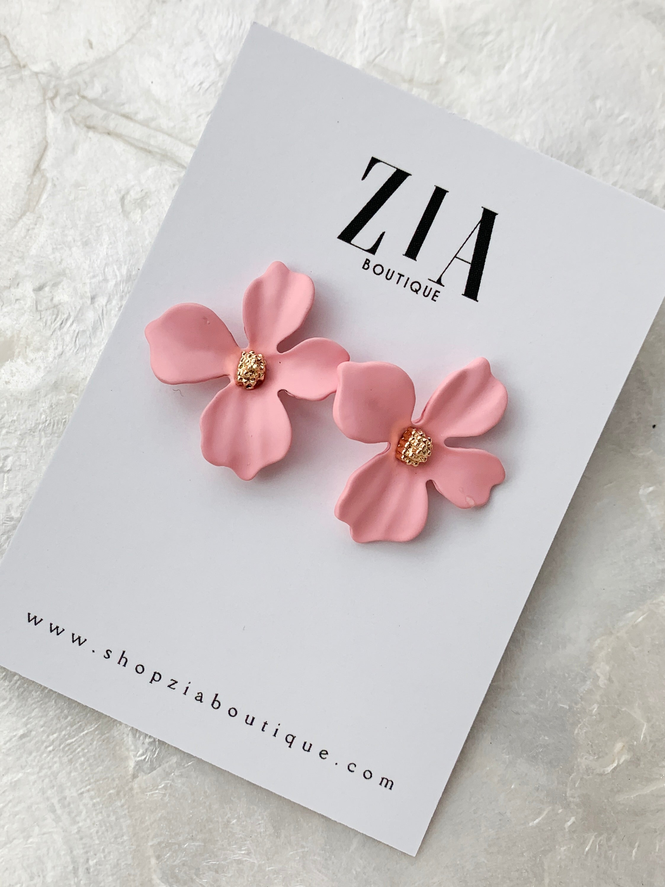 Mini Abstract Flower Studs