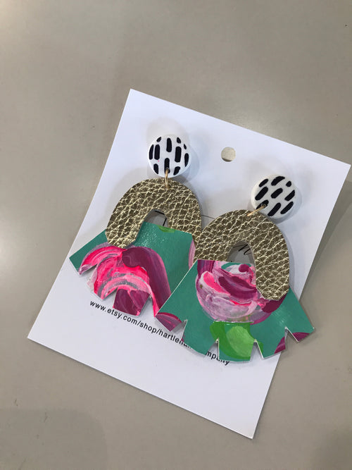 Floral Geo Earrings