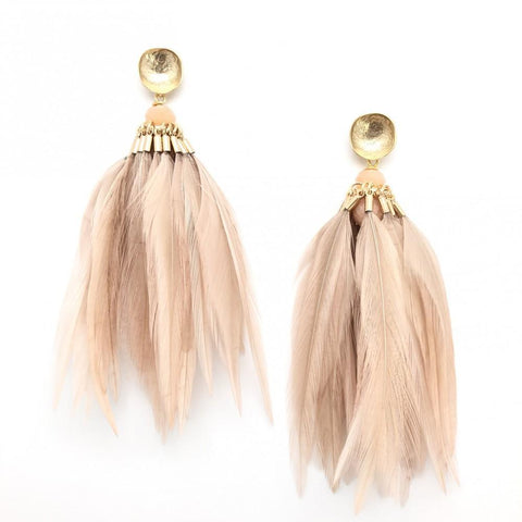 Tassel Trim Disc Earrings