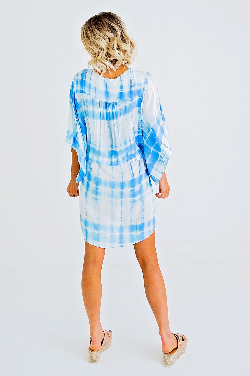 Tie Dye Dolman Sleeve Dress