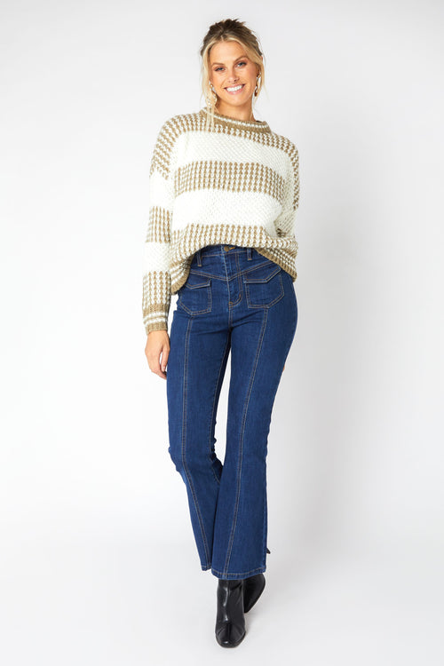 Highlands Striped Knit Sweater