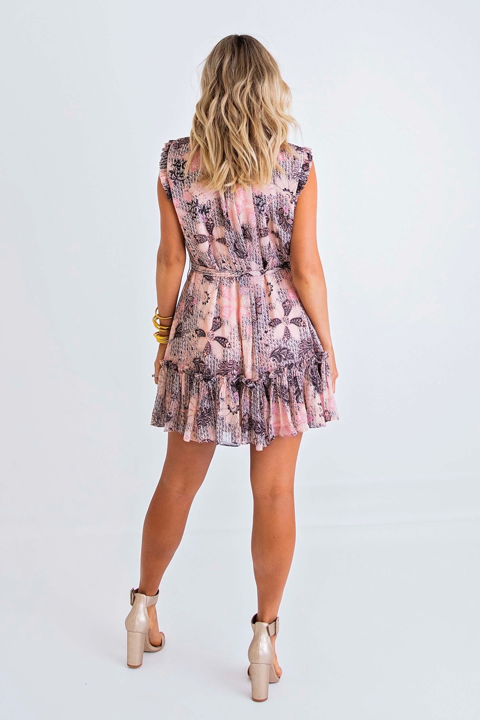 Fall Florals Chiffon Dress