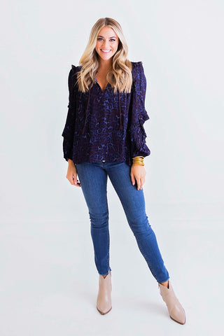 Finley Flutter Sleeve Cheetah Top