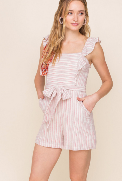 Ruffle Front Romper