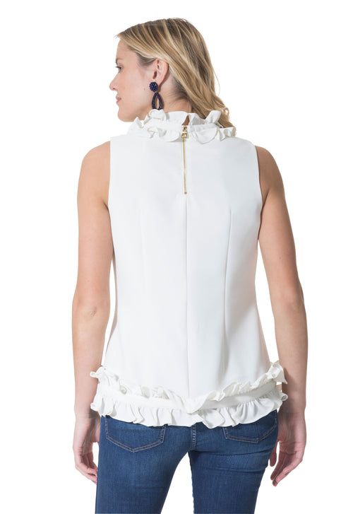 Double Ruffle Sleeveless Top