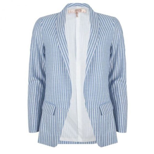 Striped Long Blazer