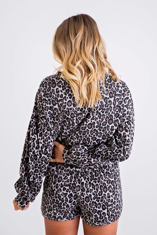 Leopard Pull-On Short
