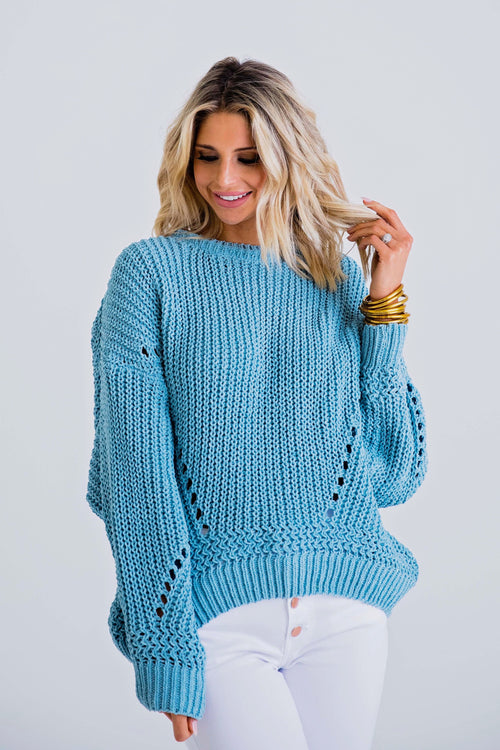 Boat Nights Chenille Sweater