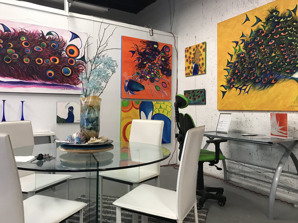 Inside Yvette Michele Studio Art Walk