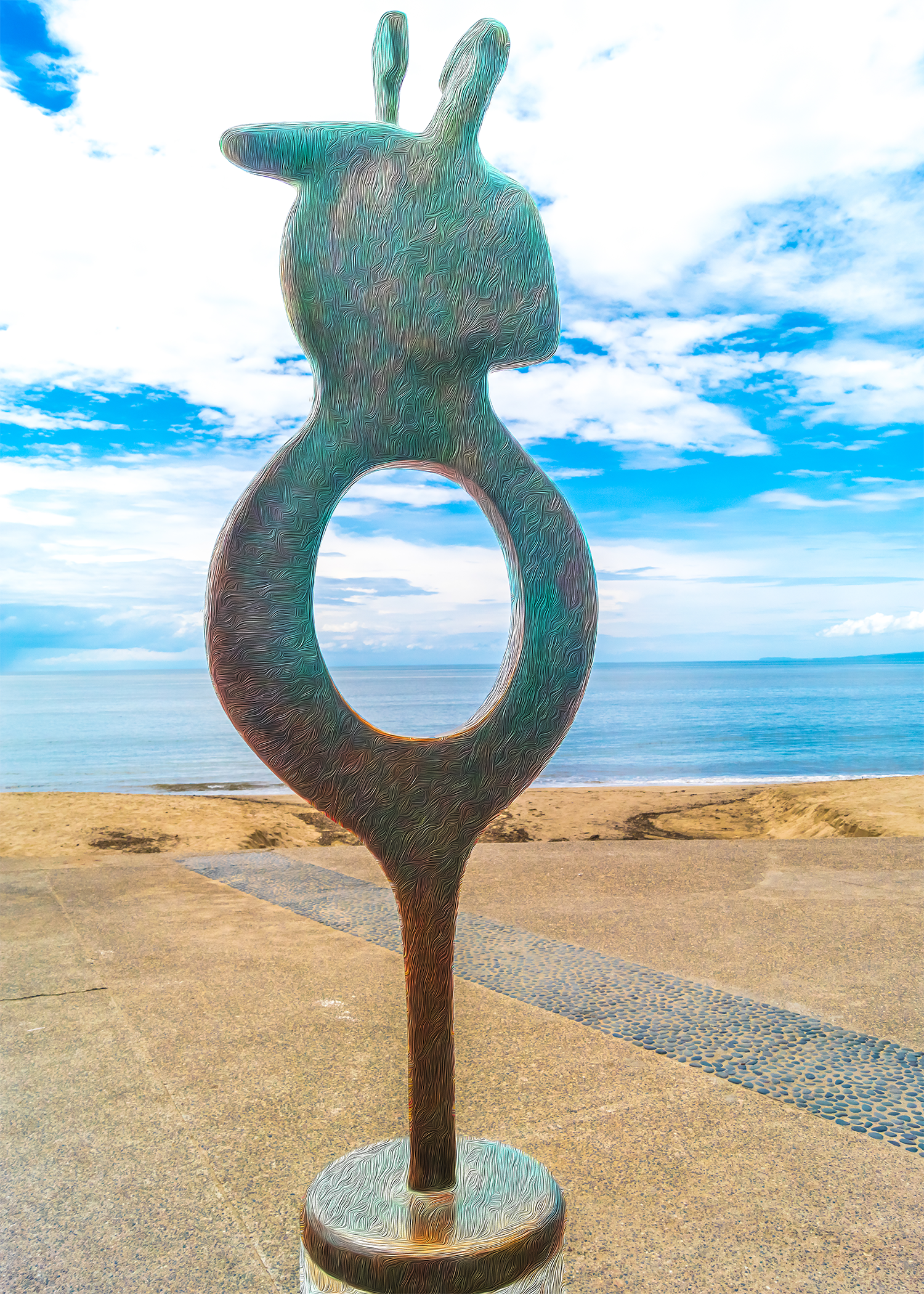 Walk On The Malecon - Ankh - Yvette Michele Art