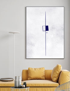 Blu No.1 - 24x36 Blue Abstract Print on Canvas - Yvette Michele Art