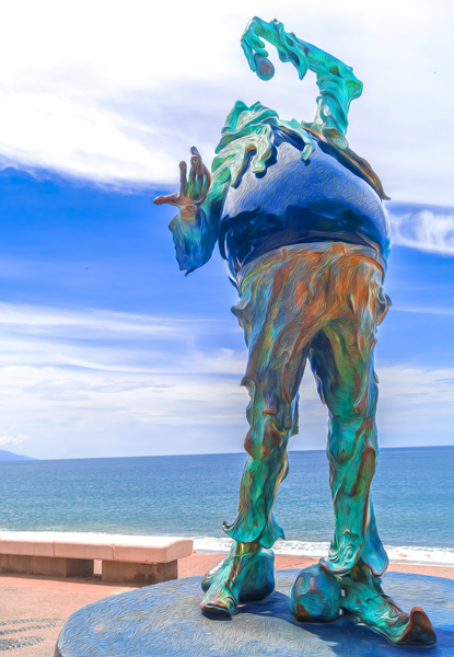 Walk On The Malecon - Stone Eater No2 - Single Edition Photography Print - Yvette Michele Art