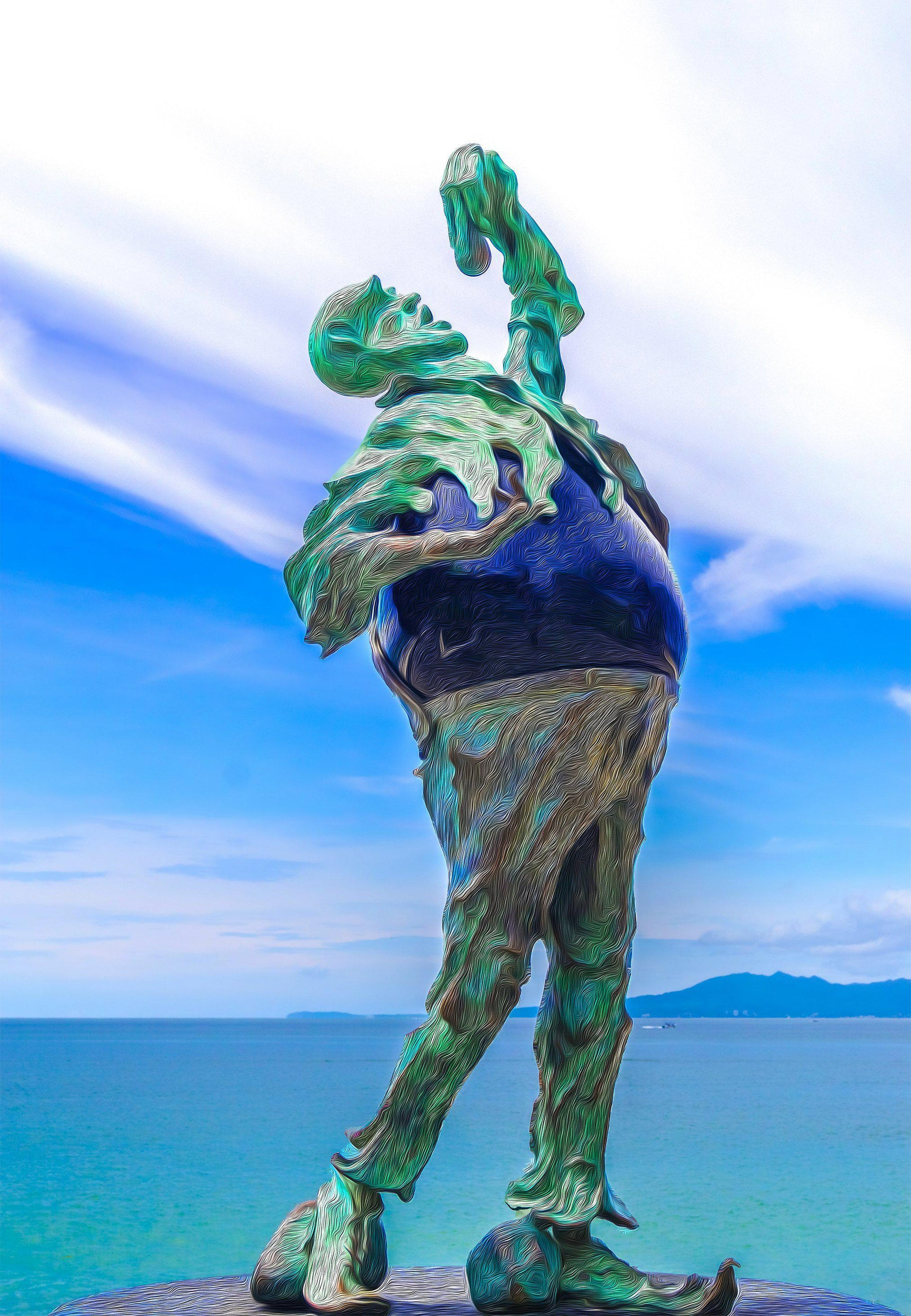 Walk On The Malecon - Stone Eater 1 - Yvette Michele Art