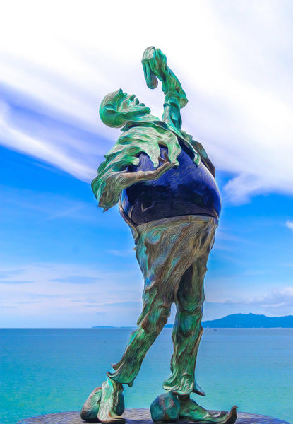 Walk On The Malecon - Stone Eater No1 - Single Edition Photography Print - Yvette Michele Art