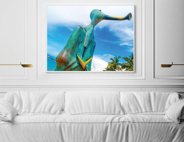 Walk On The Malecon - Horn Talk Large Single Edition Photography Print - Yvette Michele Art