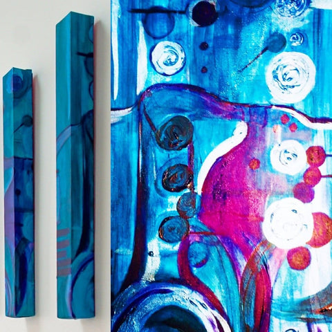 Doc Ode to Beans Bowles - Blue Jazz Paintings - Yvette Michele Art