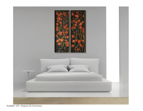 Sculptured Canvas - Night Dreams Large Oil Paintings - Yvette Michele Art