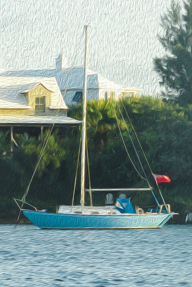 "Oh My Bermuda Series - ""Britain's Blue"" - Limited Edition Prints - Yvette Michele Art"