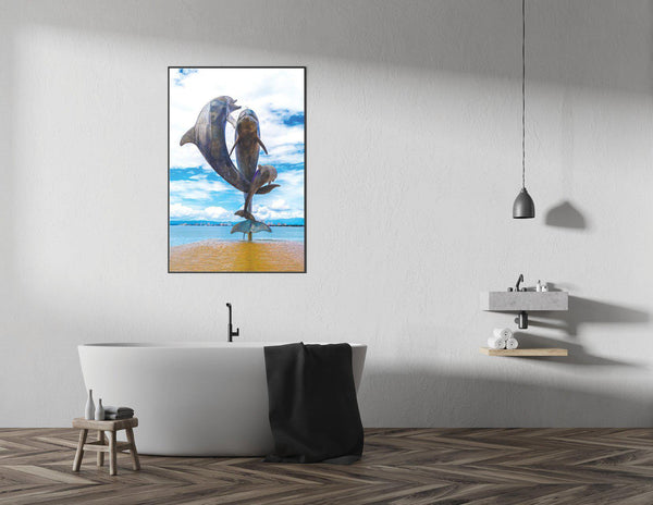 Walk On The Malecon - Dolphin Single Edition Photography Print - Yvette Michele Art