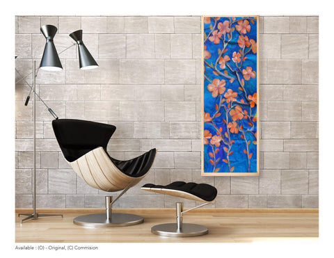 Sculptured Canvas - Twilight Flowers Large Oil Painting - Yvette Michele Art