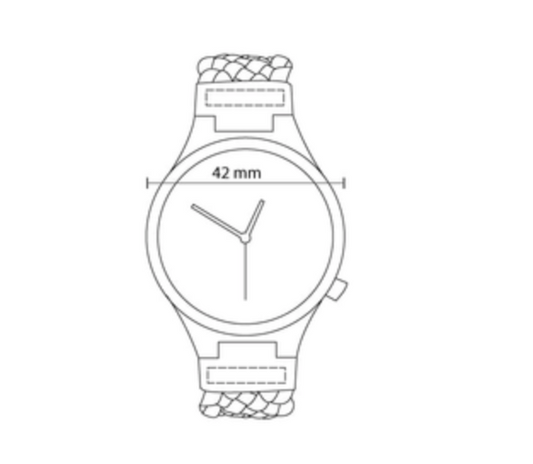 BAMBOO WATCH -TIBURON- GREY ROUND