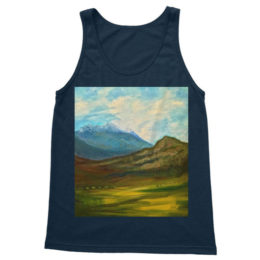 WYOMING GRAND TETON Softstyle Tank Top