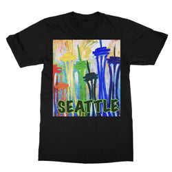 SPACE NEEDLE IMPRESSION Softstyle Ringspun T-Shirt