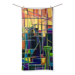 Seattle Sunrise Abstract Beach Towel