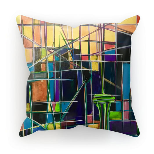 Seattle Sunrise Abstract Cushion