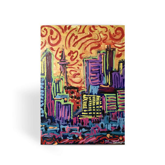 THICK PAINTED CITY Greeting Card