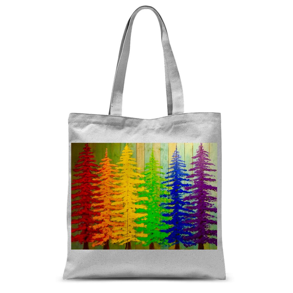 RAINBOW FOREST TOTE BAG (double sided)