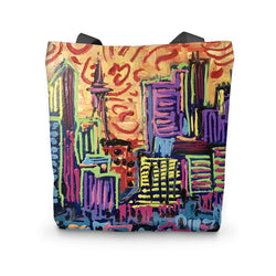 THICK PAINTED CITY Tote Bag