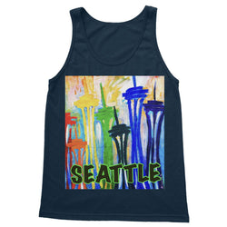 SPACE NEEDLE IMPRESSION Softstyle Tank Top