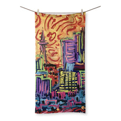 THICK PAINTED CITY Beach Towel