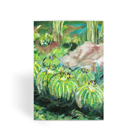 BARREL CACTI Greeting Card