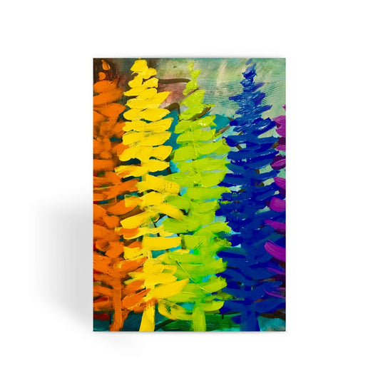 RAINBOW TREES Greeting Card