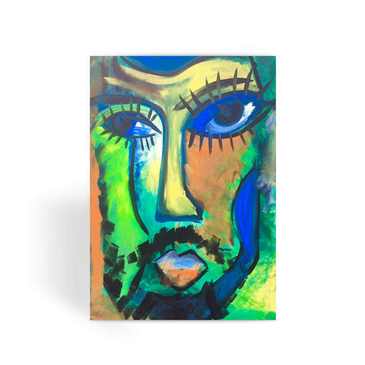 BEARDED LADY Greeting Card