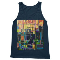 Seattle Sunrise Abstract Softstyle Tank Top