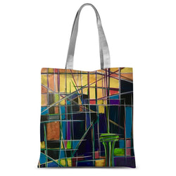 Seattle Sunrise Abstract Sublimation Tote Bag