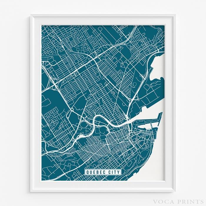 Quebec city canada street map print wall poster voca prints quebec city canada street map print wall art poster by voca prints gumiabroncs Images