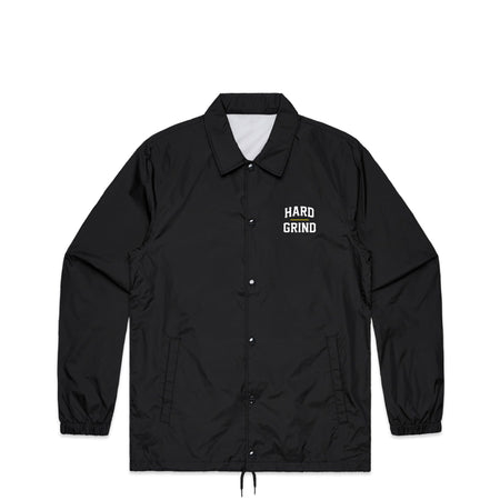 Stacked Black Coach Jacket | Hard Grind