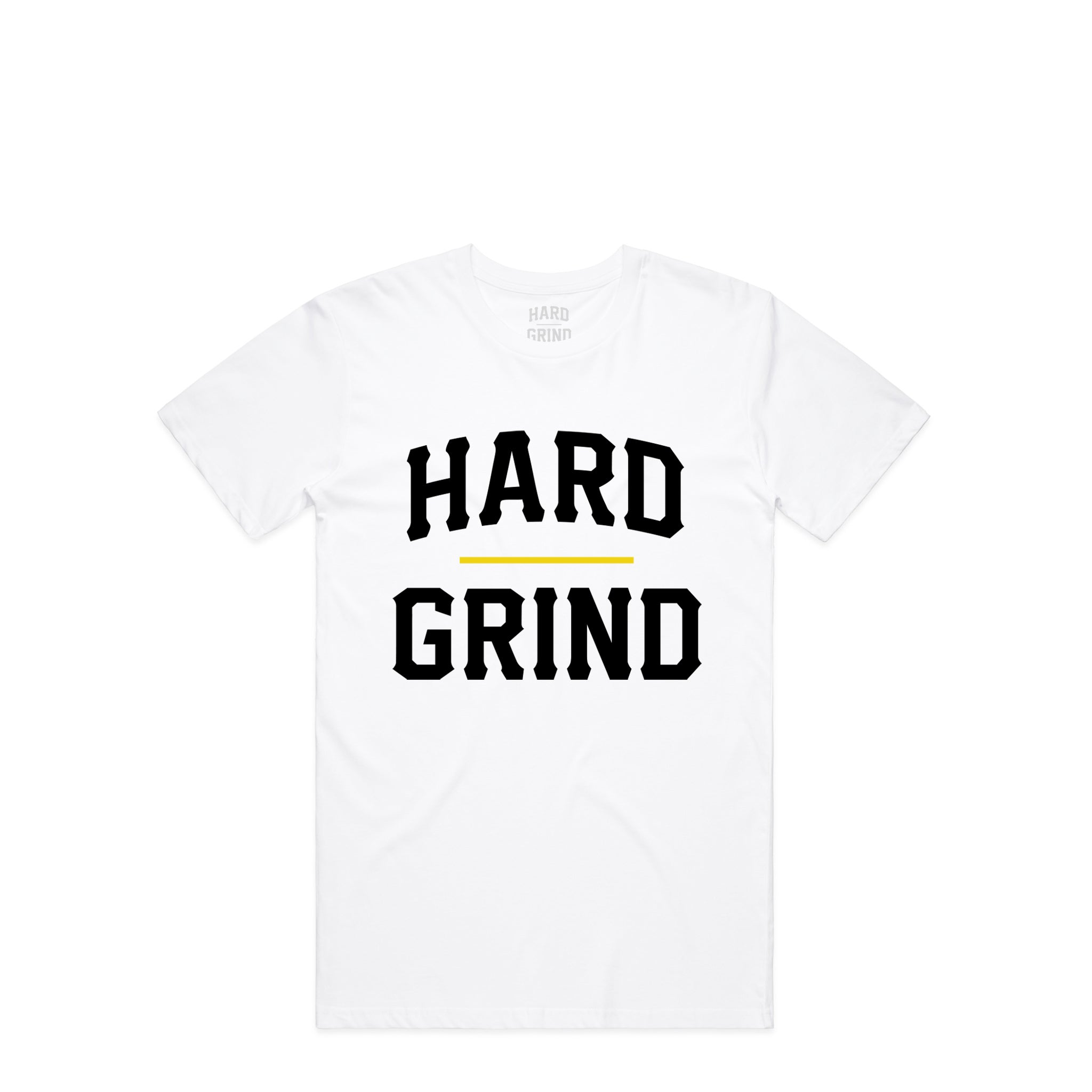 Stacked Chest White T-Shirt | Hard Grind