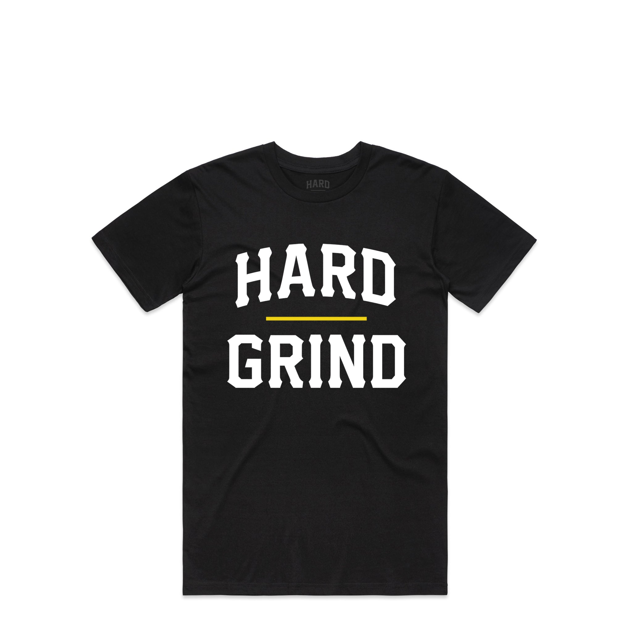 Stacked Chest Black T-Shirt | Hard Grind