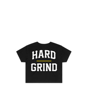 Stacked Black Crop T-Shirt | Hard Grind