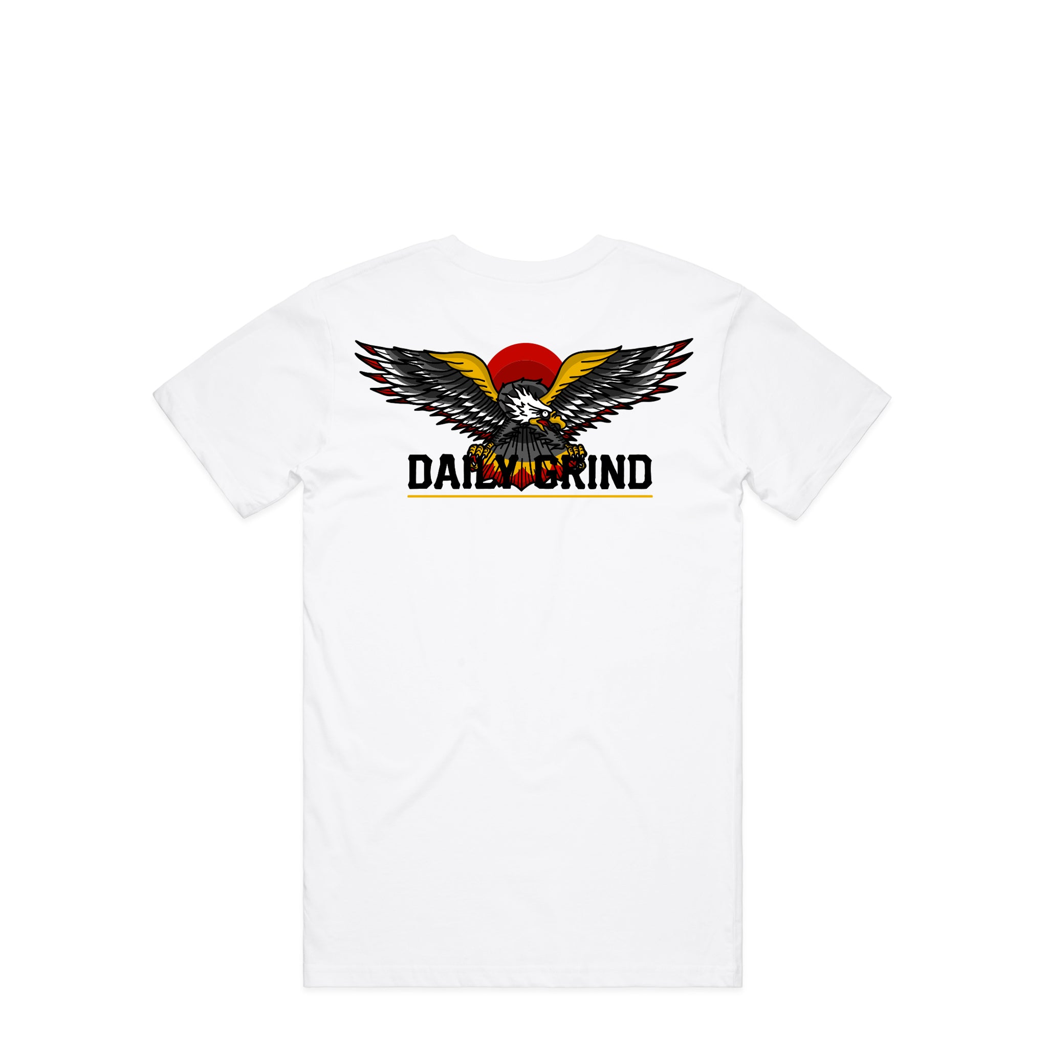 Daily Grind Eagle White T-Shirt | Hard Grind